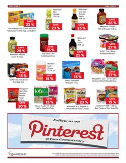 Flower deals in the Commissary weekly ad in New York