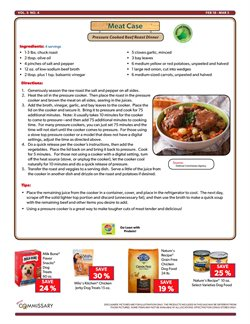 Covers deals in the Commissary weekly ad in New York