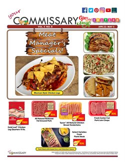 Commissary deals in the Bangor ME weekly ad