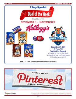 Commissary deals in the Tucson AZ weekly ad