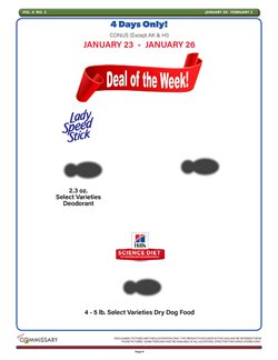 Commissary deals in the Houston TX weekly ad