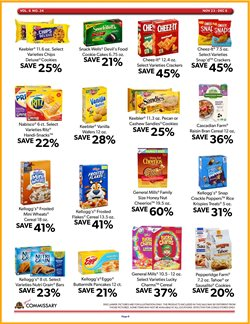 Rice Krispies deals in Commissary