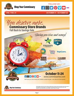 Grocery & Drug deals in the Commissary catalog ( Expires today)