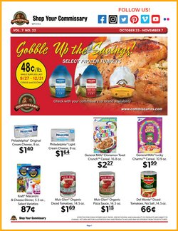 Grocery & Drug deals in the Commissary catalog ( Published today)