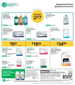 Pharmaceutical products deals in the Health Mart weekly ad in Kent WA