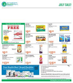 Beauty & Personal Care deals in the Health Mart weekly ad in Dallas TX