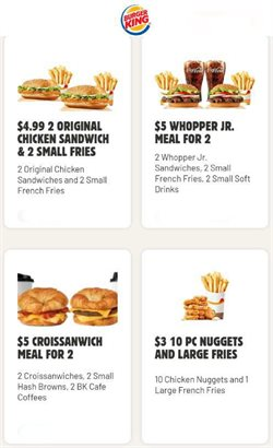 Restaurants offers in the Burger King catalogue in Phoenix AZ ( 8 days left )