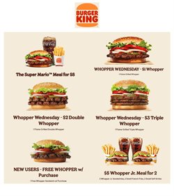 Restaurants offers in the Burger King catalogue in Chicago IL ( 15 days left )