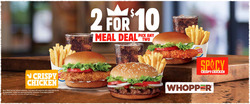 Burger King deals in the Houston TX weekly ad