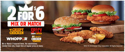 Burger King deals in the Whittier CA weekly ad