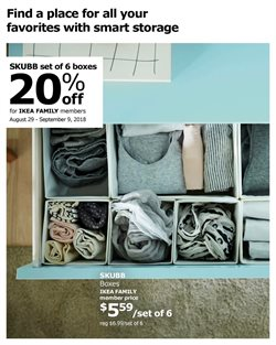 Boxes deals in the Ikea weekly ad in New York