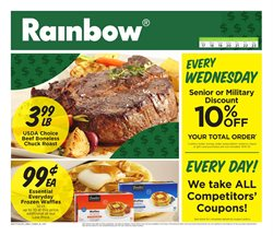 Rainbow deals in the New York weekly ad