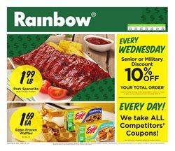 Rainbow deals in the Rochester NY weekly ad