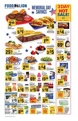 Grocery & Drug deals in the Food Lion weekly ad in North Charleston SC