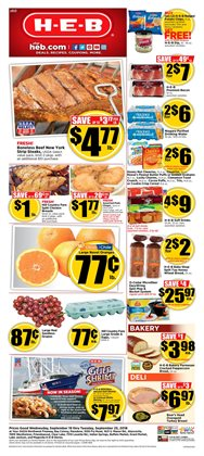 Water deals in the H-E-B weekly ad in Humble TX