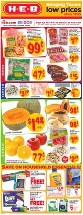 Grocery & Drug deals in the H-E-B weekly ad in San Antonio TX