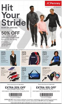 Department Stores deals in the JC Penney weekly ad in New York