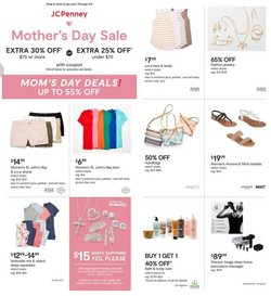 Mother's Day deals in the JC Penney catalog ( Expires tomorrow)
