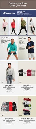Reebok deals in the JC Penney catalog ( More than a month)