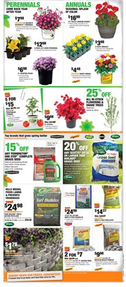 Trees deals in the Home Depot weekly ad in Muskegon MI