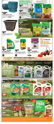 Garden deals in the Home Depot weekly ad in Sioux Falls SD