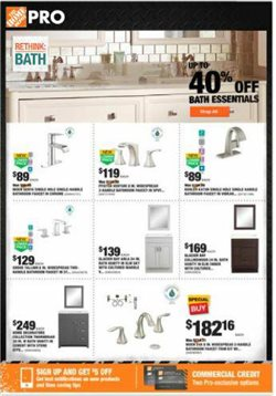Home Depot deals in the Schenectady NY weekly ad