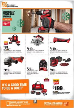 Tools & Hardware deals in the Home Depot weekly ad in Dallas TX