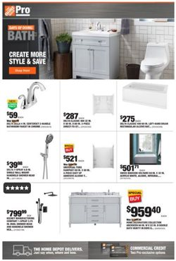 Home Depot deals in the Reseda CA weekly ad