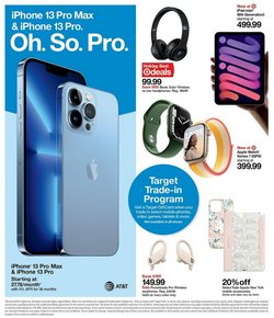 Apple deals in the Target catalog ( Published today)