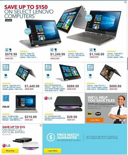 Lenovo deals in the Best Buy weekly ad in New York
