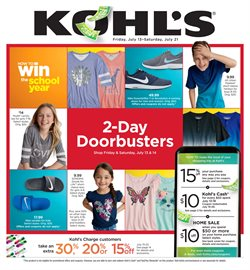 Department Stores deals in the Kohl's weekly ad in Houston TX