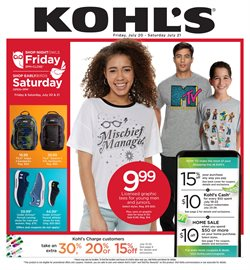 Department Stores deals in the Kohl's weekly ad in Acworth GA