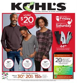 Department Stores deals in the Kohl's weekly ad in Springfield MO