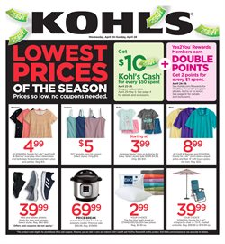 Department Stores deals in the Kohl's weekly ad in San Antonio TX