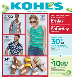 Department Stores deals in the Kohl's weekly ad in Charlottesville VA