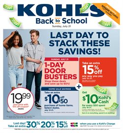 Department Stores deals in the Kohl's weekly ad in Allentown PA