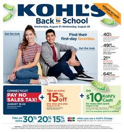 Kohl's deals in the Springfield MA weekly ad