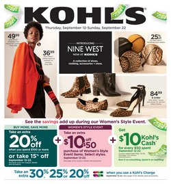Department Stores deals in the Kohl's weekly ad in Waterbury CT