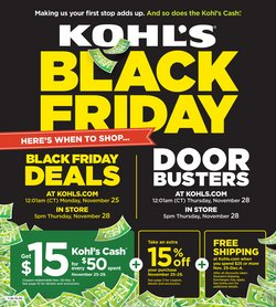 Kohl's deals in the Houston TX weekly ad
