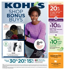 Department Stores deals in the Kohl's weekly ad in Woodside NY
