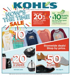 Department Stores offers in the Kohl's catalogue in Sterling VA ( Expires today )