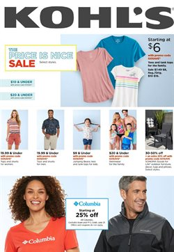 Department Stores offers in the Kohl's catalogue in Indio CA ( 3 days left )