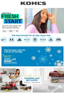 Department Stores offers in the Kohl's catalogue in Toms River NJ ( Expires tomorrow )
