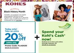 Kohl's catalogue ( Expires tomorrow )