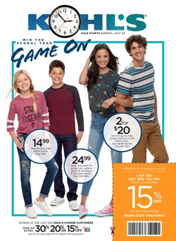Department Stores deals in the Kohl's weekly ad in Miami FL