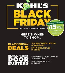 Black Friday deals in the Kohl's weekly ad in New York