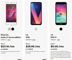 LG deals in the Verizon Wireless weekly ad in Fontana CA