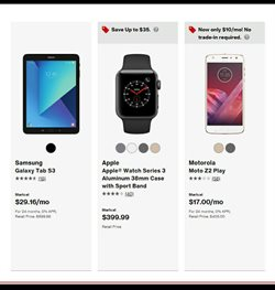 Tablet deals in the Verizon Wireless weekly ad in New York