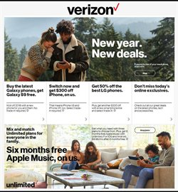 Phones deals in the Verizon Wireless weekly ad in Fullerton CA