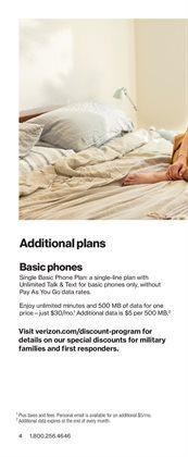 Phones deals in Verizon Wireless